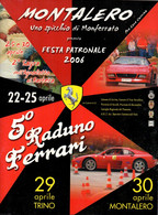 MOTORING - ITALIA - BROCHURE PROGRAMMA 5° RADUNO FERRARI - MONTALERO 2006 - Motori