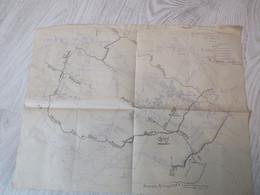 MILITARIA - PLAN DE COMBAT GUERRE 14/18 S/SECTEUR DE MAUCOURT - Documenten