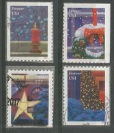 USA 2016 Contemporary Christmas Xmas Stamps SC.#5145/48 Cpl 4v Set VFU - Used Stamps