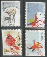 USA 2014 Winter Fun SC.#4937/40 Cpl 4v Set VFU - Used Stamps