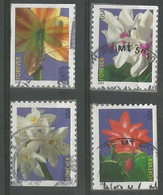 USA 2014 Winter Flowers  SC.# 4862/65   Cpl 4v Set VFU - Used Stamps