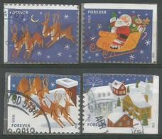 USA 2012 Xmas Christmas Santa Klaus & Sleigh SC.# 4712/15   Cpl 4v Set VFU - Used Stamps