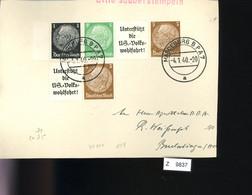 Deutsches Reich, Briefstück Aus Gebrauchspost Mit Zusammendruck:  W 71, W 75 - Se-Tenant