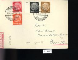 Deutsches Reich, Briefstück Aus Gebrauchspost Mit Zusammendruck: S 199 - Se-Tenant