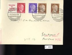 Deutsches Reich, Briefstück Aus Gebrauchspost Mit Zusammendruck: W 159, W 156 - Se-Tenant