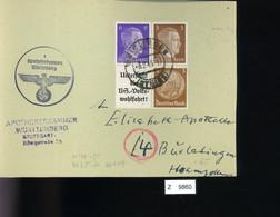 Deutsches Reich, Briefstück Aus Gebrauchspost Mit Zusammendruck: W 149, W 75 - Se-Tenant