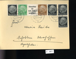 Deutsches Reich, Briefstück Aus Gebrauchspost Mit Zusammendruck: W 59, W 75 - Se-Tenant