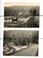 2 PHOTOGRAPHIES . D25. DOUBS. Vaux Et Chantegrue - Une Scierie. Route Entre BONNEVAUX Et VAUX CHANTEGRUE . 1955 - Luoghi