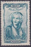 France 1943 T U C YT 595 Neuf - Ungebraucht