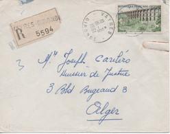 Lettre Recommandée De Vayres (Gironde) Pour Alger En 1961, Affranchi Du N°1240, Viaduc De Chaumont. - Andere