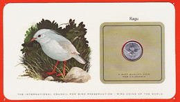VaH146 ♥️ NEW CALEDONIA 1 Franc 1977 Kagu KAGOU De NOUVELLE-CALEDONIE Oiseaux Monde Bird Coins World Preservation - New Caledonia