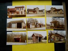 Photo ,TRAMWAY Et Gares COTE  D'OR, Collection Bourneuf ,lire Descriptif , Anciennes Haltes Vaurois ,Chatillon ,Semur... - Treni