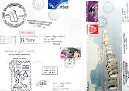 TAAF / LOT DE 8 ENVELOPPES DES TAAF - Collections, Lots & Series