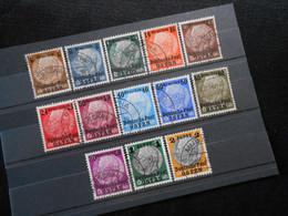 DR Mi 1-13 Satz - Deutsche Besetzungsausgaben 1939 (Generalgouvernement)  Mi 14 € - Lot 570 - Ocupación 1938 – 45