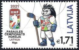 Latvia Lettland Lettonie 2021 (07) Ice Hockey IIHF World Championship - Riga - Hedgehog Spiky - Latvia