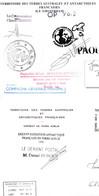 TAAF / LOT DE 3 ENVELOPPES  CAMPAGNE 1996 DUMONT D'URVILLE TERRE ADELIE - Collections, Lots & Series