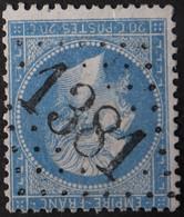 22a Obl GC 1381 Egletons (18 Corrèze ) Ind 7 ; Frappe Très Nette Et TB Centrée - 1849-1876: Classic Period