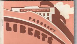 1037 - CARNET 10 CARTES DU PAQUEBOT LIBERTE . VUES INTERIEURES DU PAQUEBOT.CACHET S/S LIBERTE 30 JUIN . EXCELLENT ETAT . - Ohne Zuordnung
