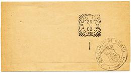 1902 FORIO D'ISCHIA  NAPOLI CERCHIO GRANDE + TIMBRO ARALDICO + ARRIVO LACCO AMENO TONDO RIQUADRATO - Marcofilie