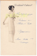 "Speisekarte/Menu ""Deinhard Cabinet"", Elegante Frau, Ca. 1900-1910 - Menu"