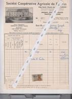 FLEURUS  Coop Agricole Facture 1952 - 1950 - ...