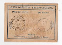 Meknes (Maroc)  Coupon Réponse Franco Colonial 1949 (PPP29161) - Marokko (1956-...)