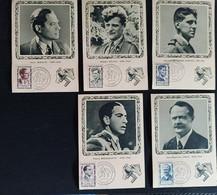 CARTES MAXIMUM. HEROS DE LA RESISTANCE (1957 - 1100/1104) - 1950-59