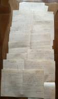 Code Civil: 14 Gdes  Feuilles Manuscrites Signées Alexandre Félix Legentil, (né Le 12 Août 1821 Et Mort Le 17 Juin 1889) - Manuskripte
