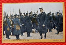 MILITARIA - Le Roi Des Belges Albert I Parmi Ses Soldats - The King Of The Belgians Among His Soldiers - Guerra 1914-18