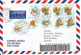Brazil Registered Air Mail Cover Sent To Germany 10-10-1996 Topic Stamps BIRDS - Poste Aérienne