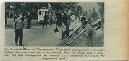 """Origineel Knipsel Uit Tijdschrift """" DE STAD 1938 '   NIEUWKERKEN-WAAS    TRAM Ongeluk - Unclassified"""