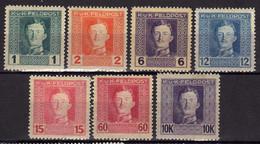 Österreich, Feldpost 1917/18 Mi 53-54; 57; 59-60; 66; 72 A * [240521IV] - Nuevos