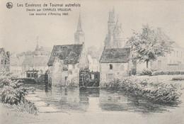Les Environs De Tournai Autrefois --Dessin Par Charles Vasseur. Les Moulins D'Antoing 1862. Scan - Tournai