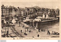 D76  DIEPPE  Gare Maritime- Départ Du Rapide Pour Paris - Dieppe