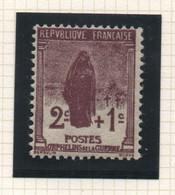 Timbre Neuf YT 229 - 2 C. + 1 C. Brun-lilas 1926-1927 Au Profit Des Orphelins De Guerre - Petite Trace De Charnière - Ungebraucht