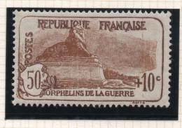 Timbre Neuf YT 230 - 50 C. + 10 C. Brun-foncé 1926-1927 Au Profit Des Orphelins De Guerre - Minime Trace De Charnière - Ungebraucht