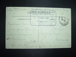 CP SAINT ETIENNE OBL.15-1 15 ST ETIENNE LOIRE (42) Cachet UNION Des FEMMES De FRANCE St ETIENNE (Loire) De L'Hôpital Aux - 1. Weltkrieg 1914-1918