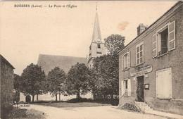 45 BOESSES, L'église Et La Poste - Other Municipalities
