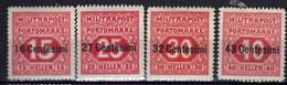 Österreich, Portomarken Feldpost Für Italien 1918 Mi 3-6 A * [240521IV] - Nuevos