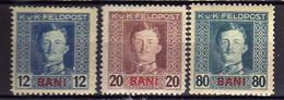 Österreich, Feldpost Für Rumänien 1917 Mi 5; 7; 13 A * [240521IV] - Nuevos