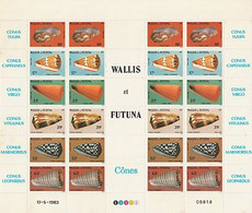 Wallis Futuna 1983 - Coquillages, Feuillet 306/311 - Unclassified
