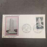 FRANCE Enveloppes FDC Combats Du Mont Mouchet 1969 1er Jour - Collection Timbre Poste - 1960-1969