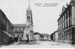 VINAY - Eglise Et Hôtel De Ville - Très Bon état - Vinay