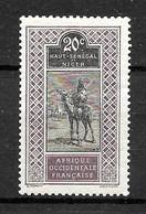 Haut-Sénégal-Niger Colonie : N° 24 Neuf **  TB (cote 3,80 €) - Ungebraucht