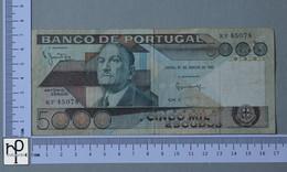 PORTUGAL 5000 ESCUDOS 1981 -    2 SCANS  - (Nº42887) - Portugal