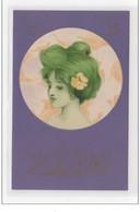 """KIRCHNER Raphaël :  """"""""""""""""portrait De Femme - Bords Violet"""""""""""""""" - (G-5) - Très Bon état (lègères Marques Au Dos) - Kirchner, Raphael"""