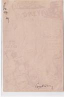 AFFAIRE DREYFUS : Carte Postale Illustrée Par Couturier (avec Sont Autographe) (Judaica) - Très Bon état - Pin-Ups