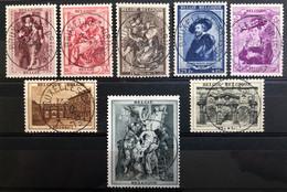 België, 1939 -- Nr 504-11, Rubenshuis Antwerpen, OBP 45€ - Prachtig Centraal Gestempeld! - Gebraucht