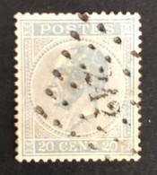 België, 1867 -- Nr 18A, Leopold I, Stempel L242 Melle - 1865-1866 Profiel Links