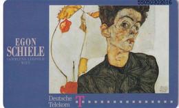 "GERMANY(chip) - Painting, Egon Schiele/""Selbstbildnis Mit Lampionfrüchten"" 1912(A 20), Tirage 32000, 08/95, Mint - A + AD-Series : D. Telekom AG Advertisement"